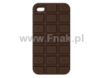 Etui silikonowe BUD do iPhone 4 - Chocolate