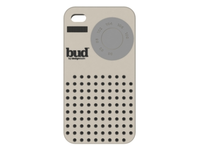 Etui silikonowe BUD do iPhone 4 - Radio