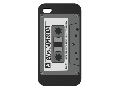 Etui silikonowe BUD do iPhone 4 - Retro Cassette
